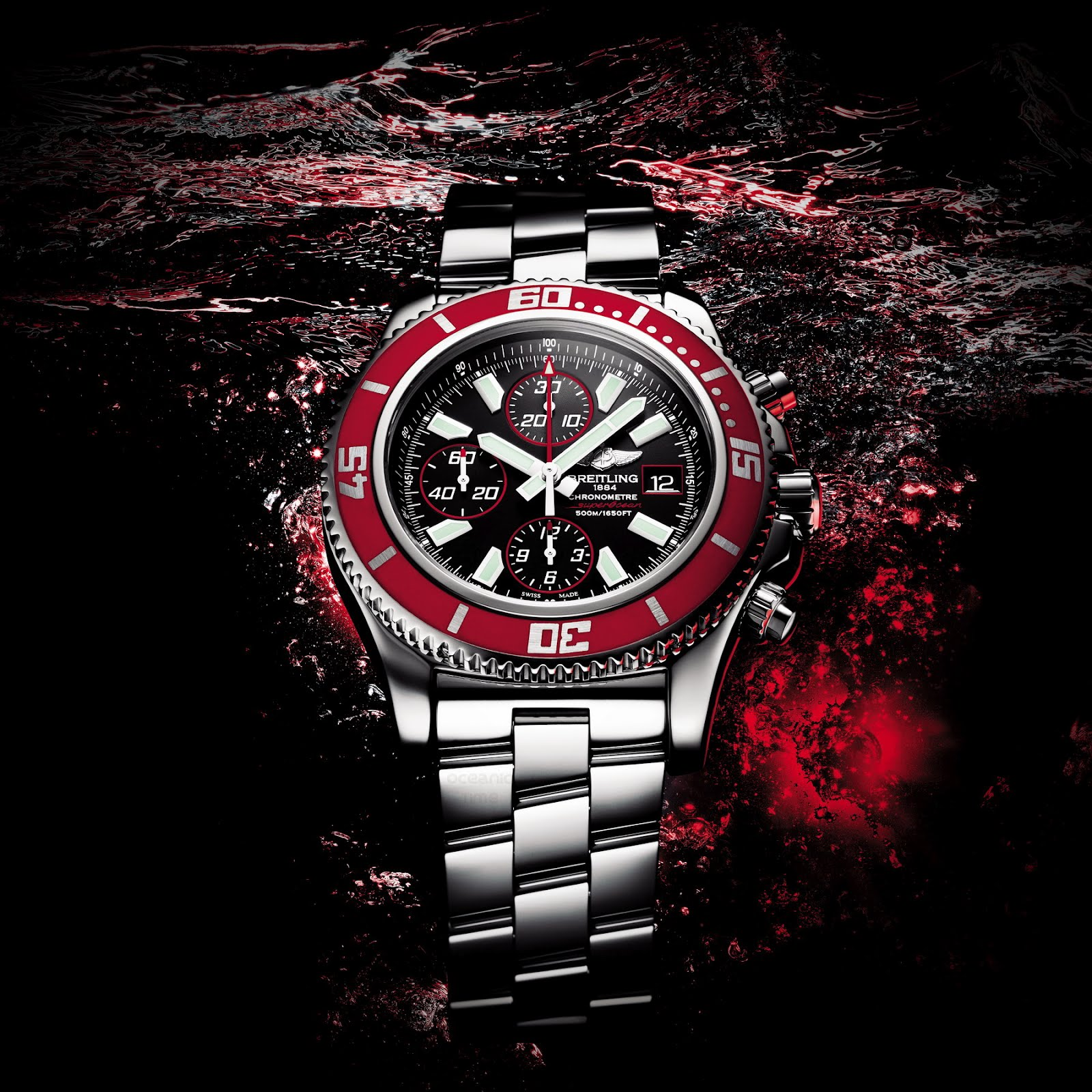 Review The Amazing Breitling Superocean II Replica Watch With Red Rubber