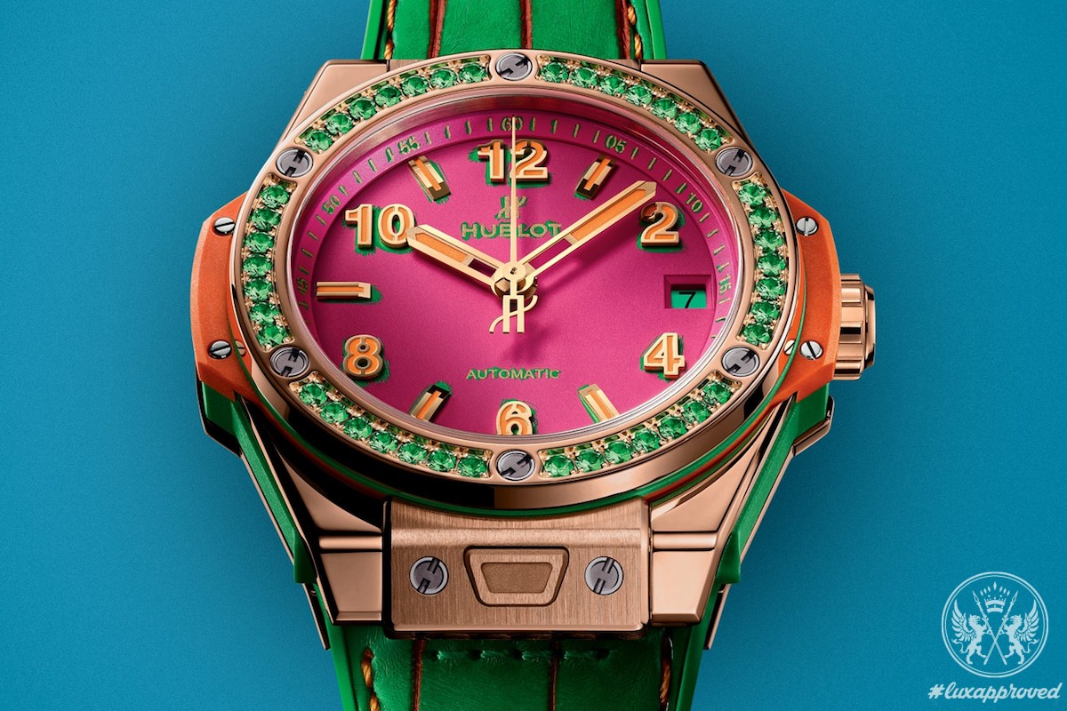 Hands-on With Hublot One Click Pop Art King Gold Apple Replica