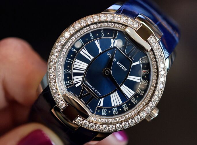 Roger Dubuis Presents The Luxury And Delicated Velvet Secret Heart Replica Watch For Ladies