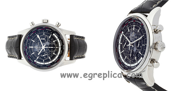 Introduction to fake breitling emergency watch World Time V8 Chronograph
